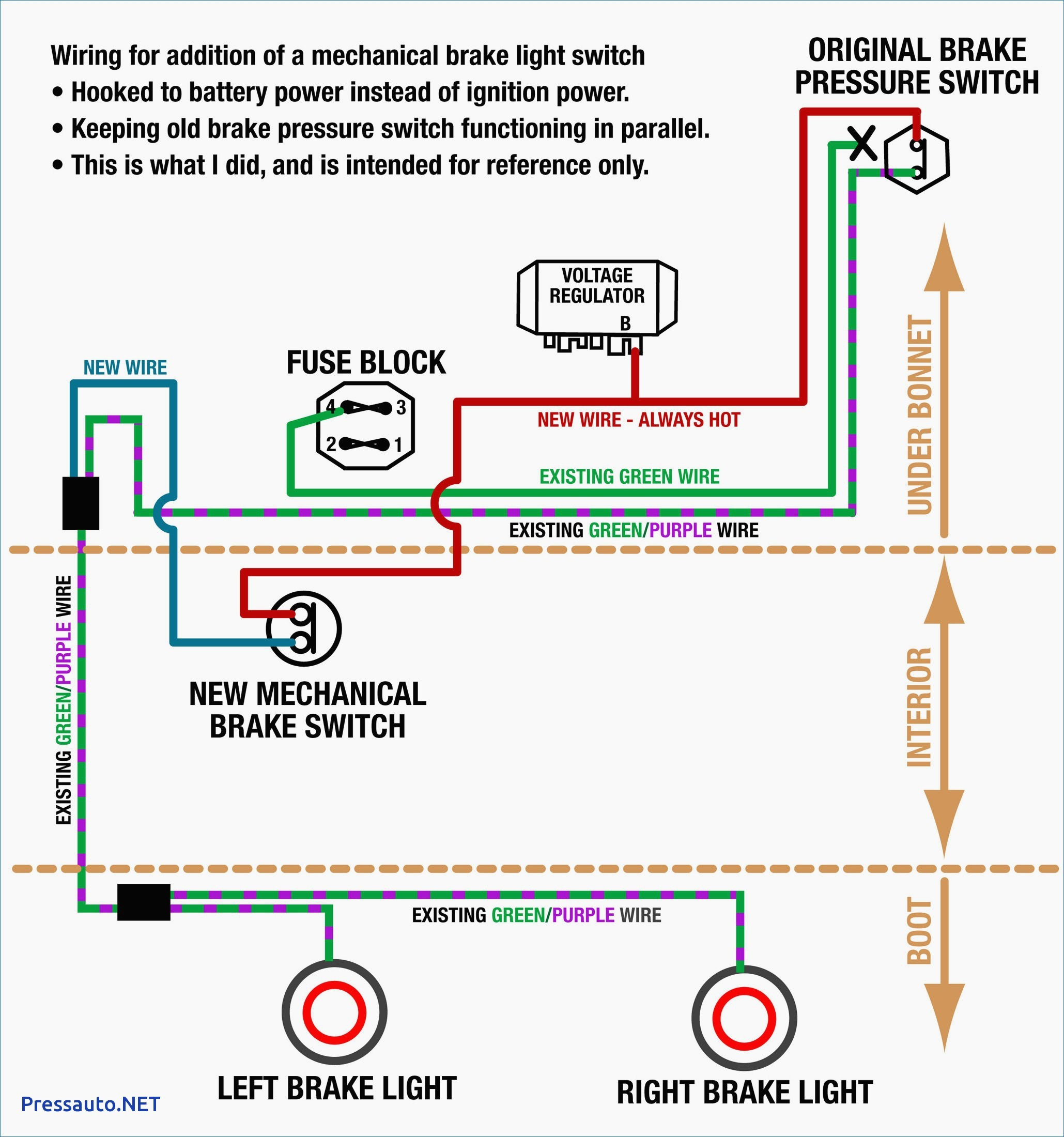 Brake Light Switch Wiring Diagram New Inspiration 4 Way Light Switch Wiring  Diagram Irelandnews