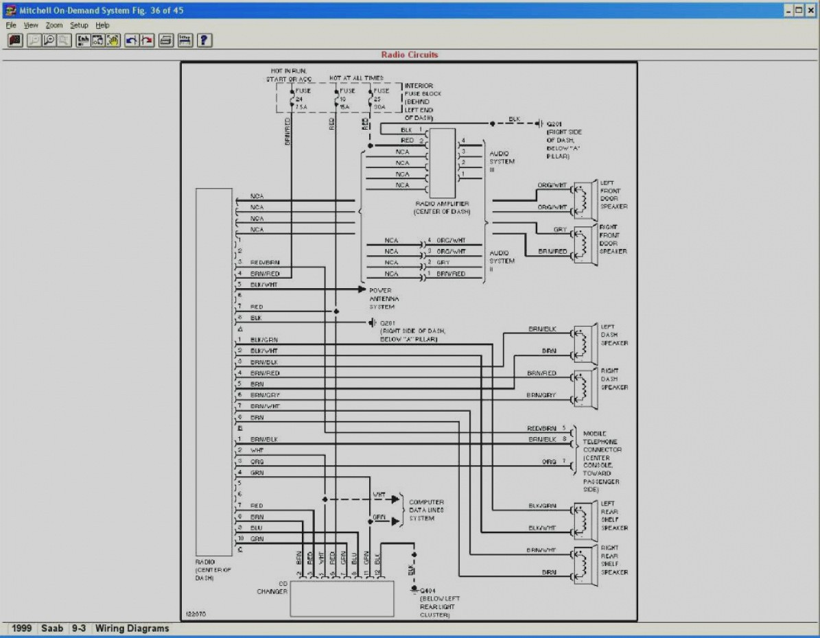 2003 Saab 9 3 Stereo Wiring Diagram - Electrical Work Wiring Diagram •