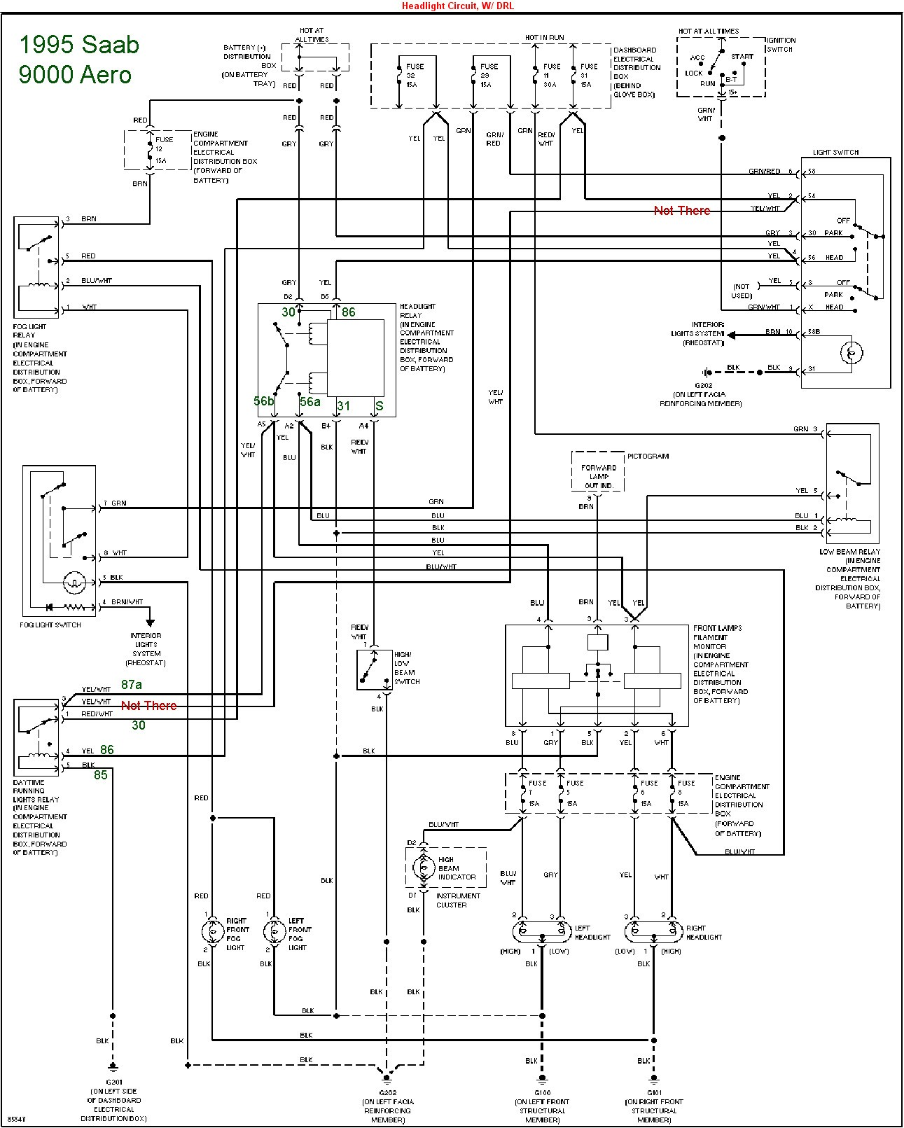 Saab Wire Diagram Wiring Data 3 Prong Headlight 99 9 Change Your Idea With Alternator Removal