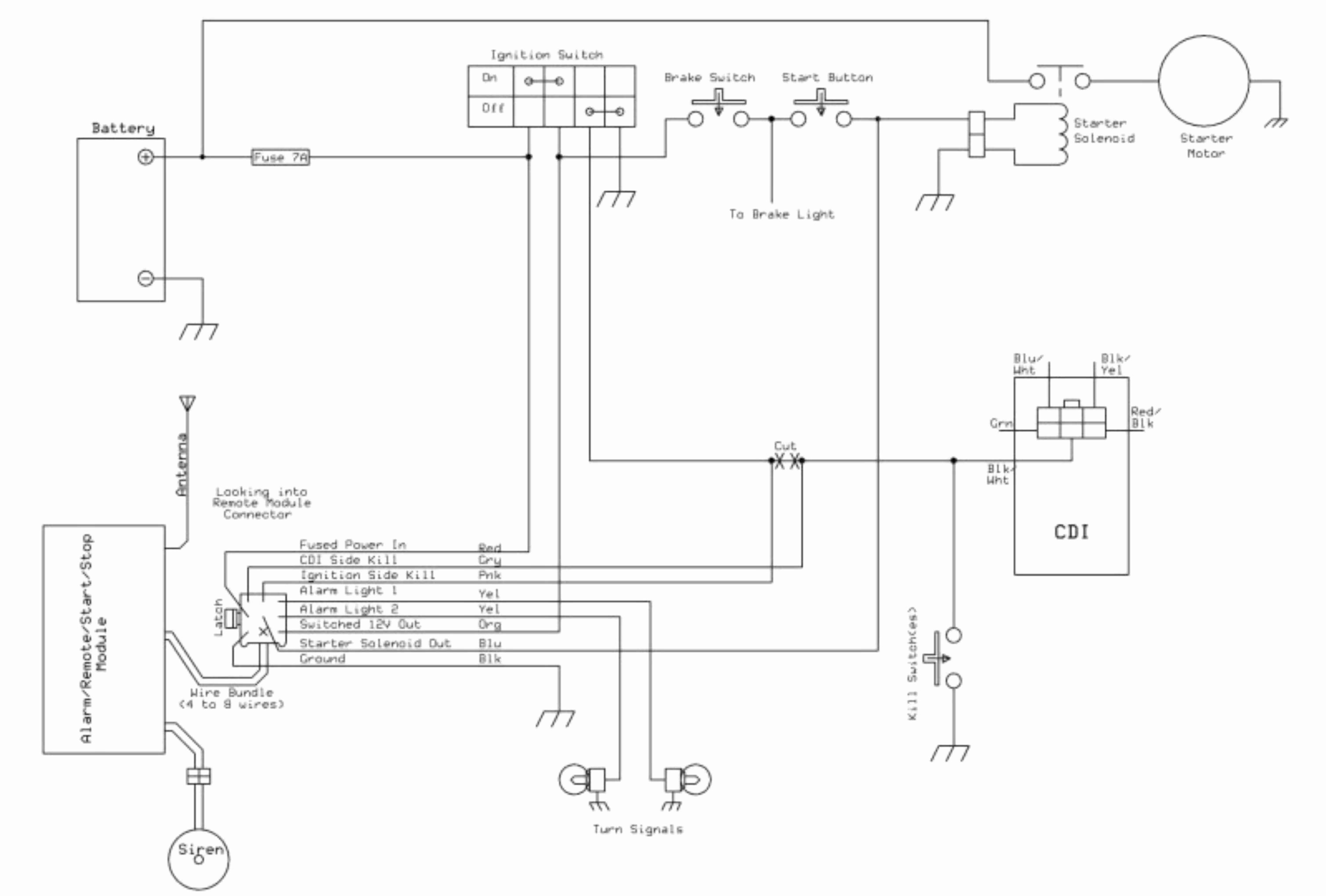 wire cdi chinese atv wiring diagram as well 50cc scooter cdi wiring rh boomerneur co