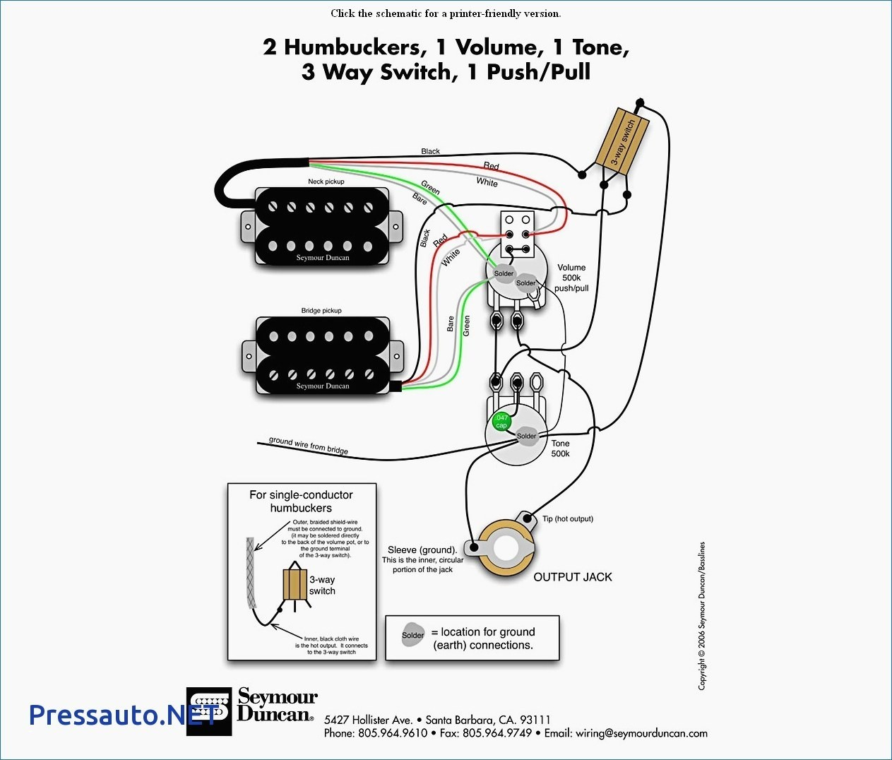 Duncan Wiring Diagram Les Paul Library Schematic Seymour Pickup Wire Center U2022 Rh Leogallery Co