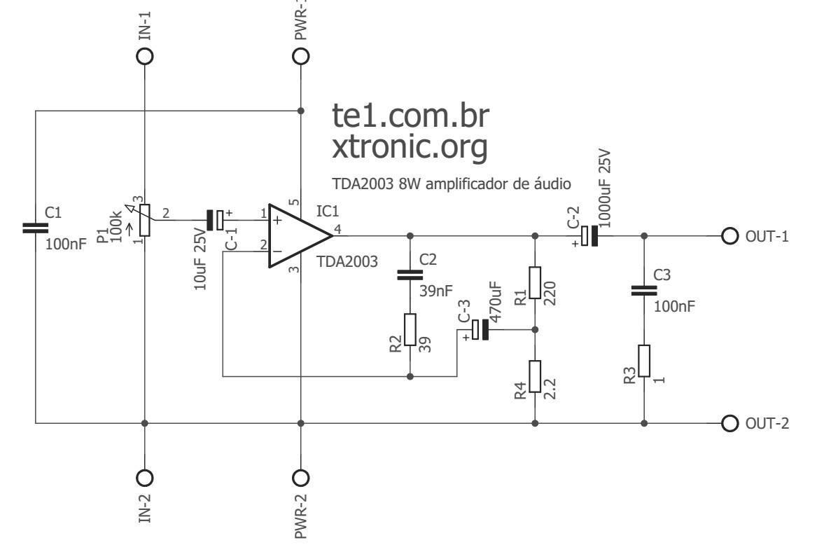 tda2003 esq 700x465 power amplifier ic Circuits Automotive Audio amplifier tda Amplifier circuit audio amplifier Circuit
