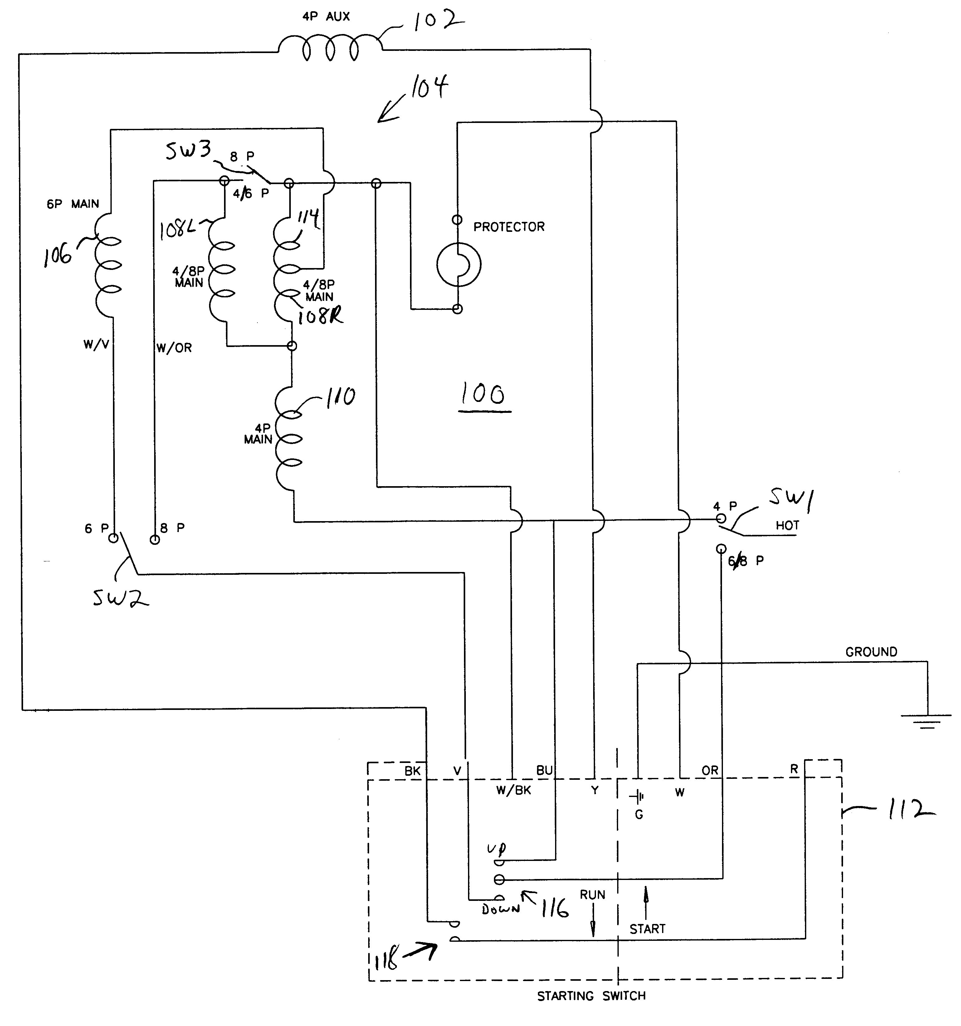 Wiring Diagram for Electric Motor with Capacitor Best Patent Us Capacitor Start Single Phase Induction Motor
