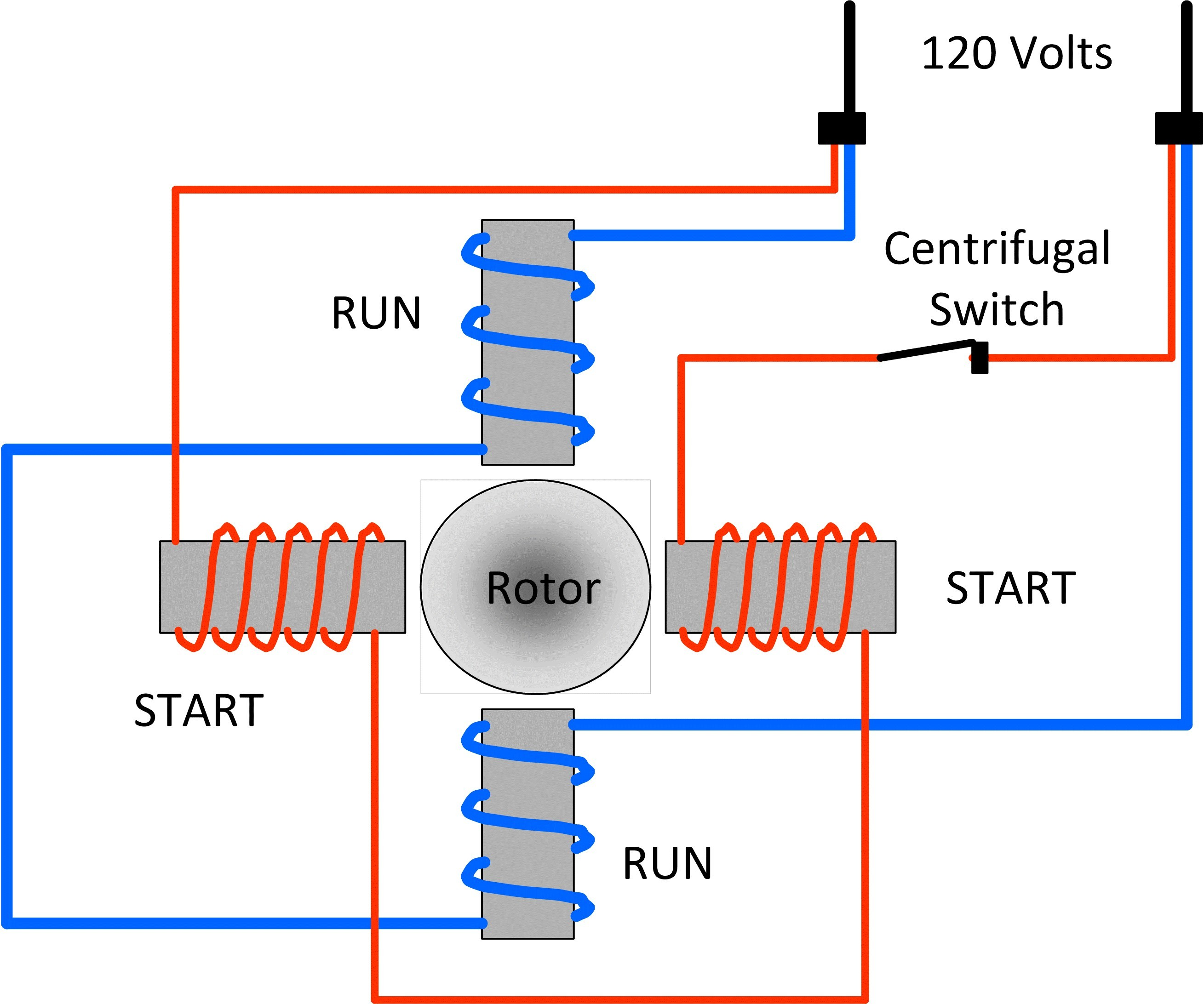 120 Volt Single Phase Motor Winding Diagrams - DIY Enthusiasts ...