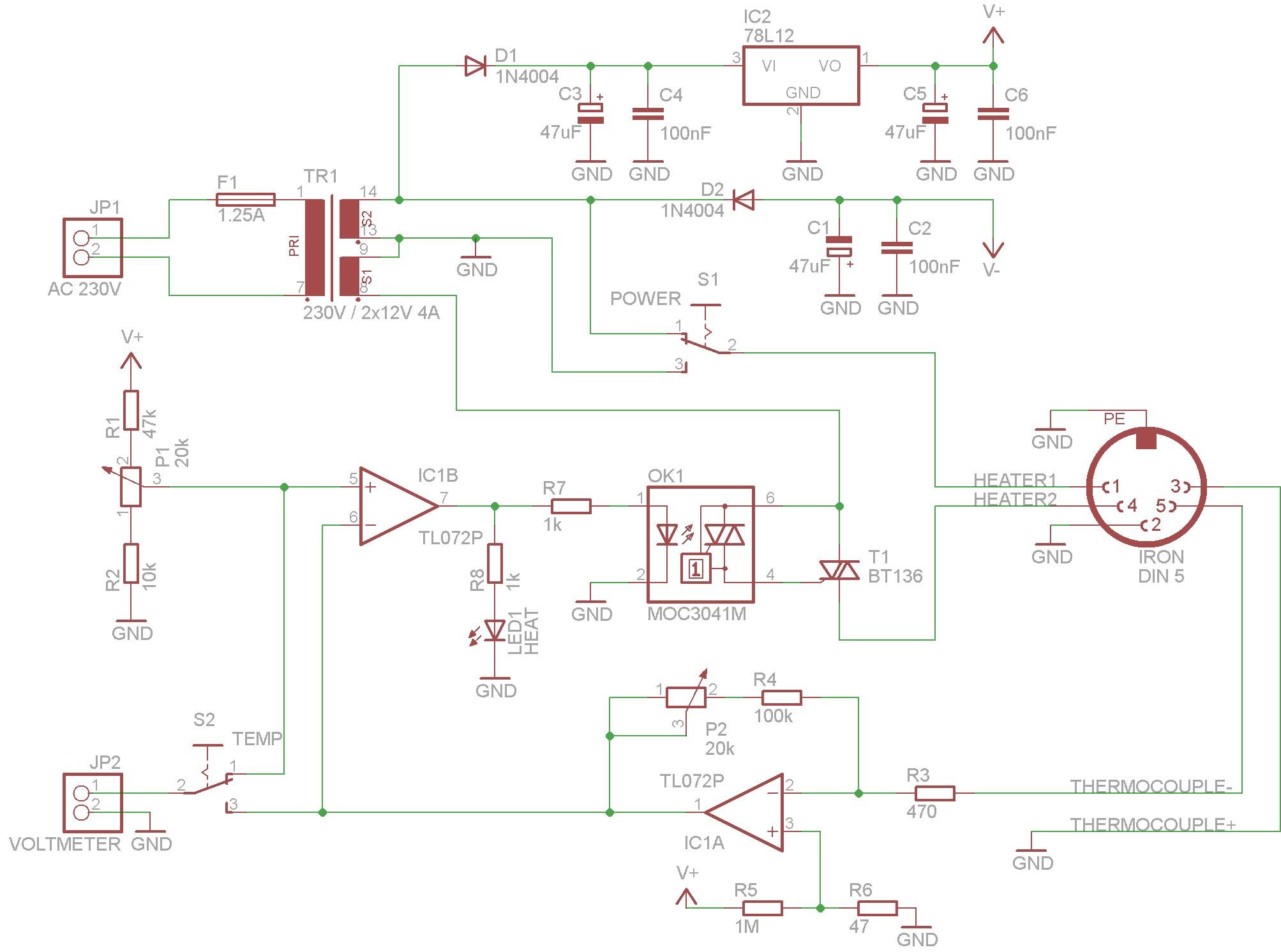 Soldering Station Wiring Schematic. Engineering Schematics, Printed ...