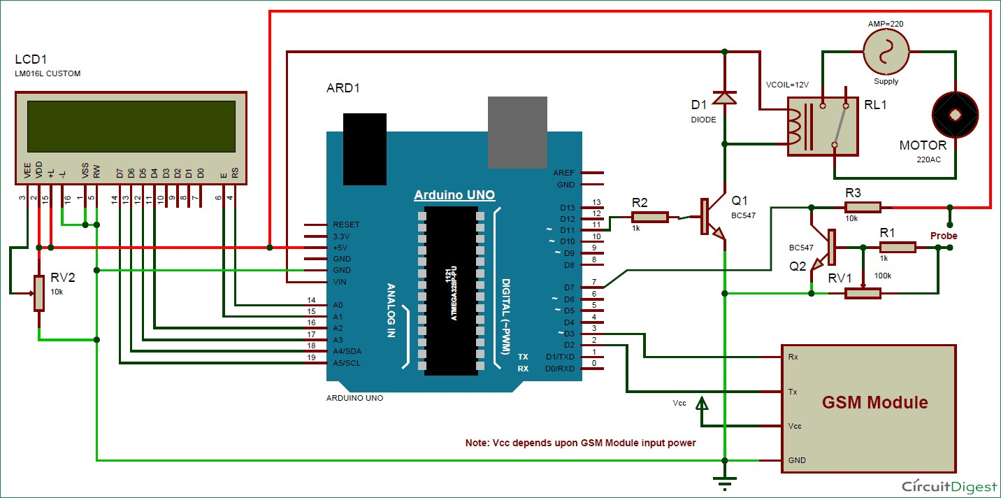 Sprinkler Wiring Diagram New Image System Circuit For Arduino Based Automatic Plant Irrigation With Message Alert