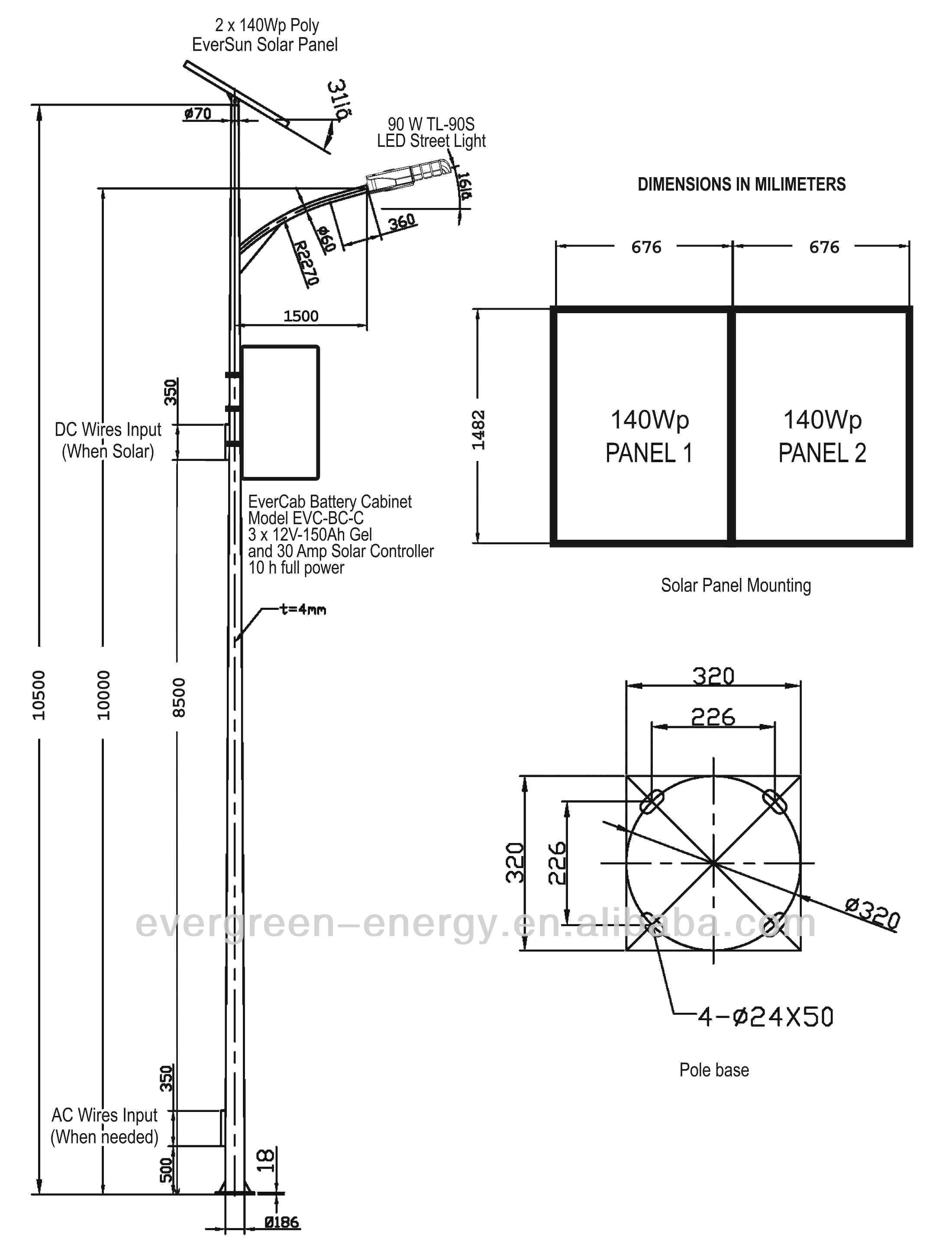 Solar Street Light Circuit Diagram solar Powered Street Light Circuit Diagram Craluxlighting Solar Street