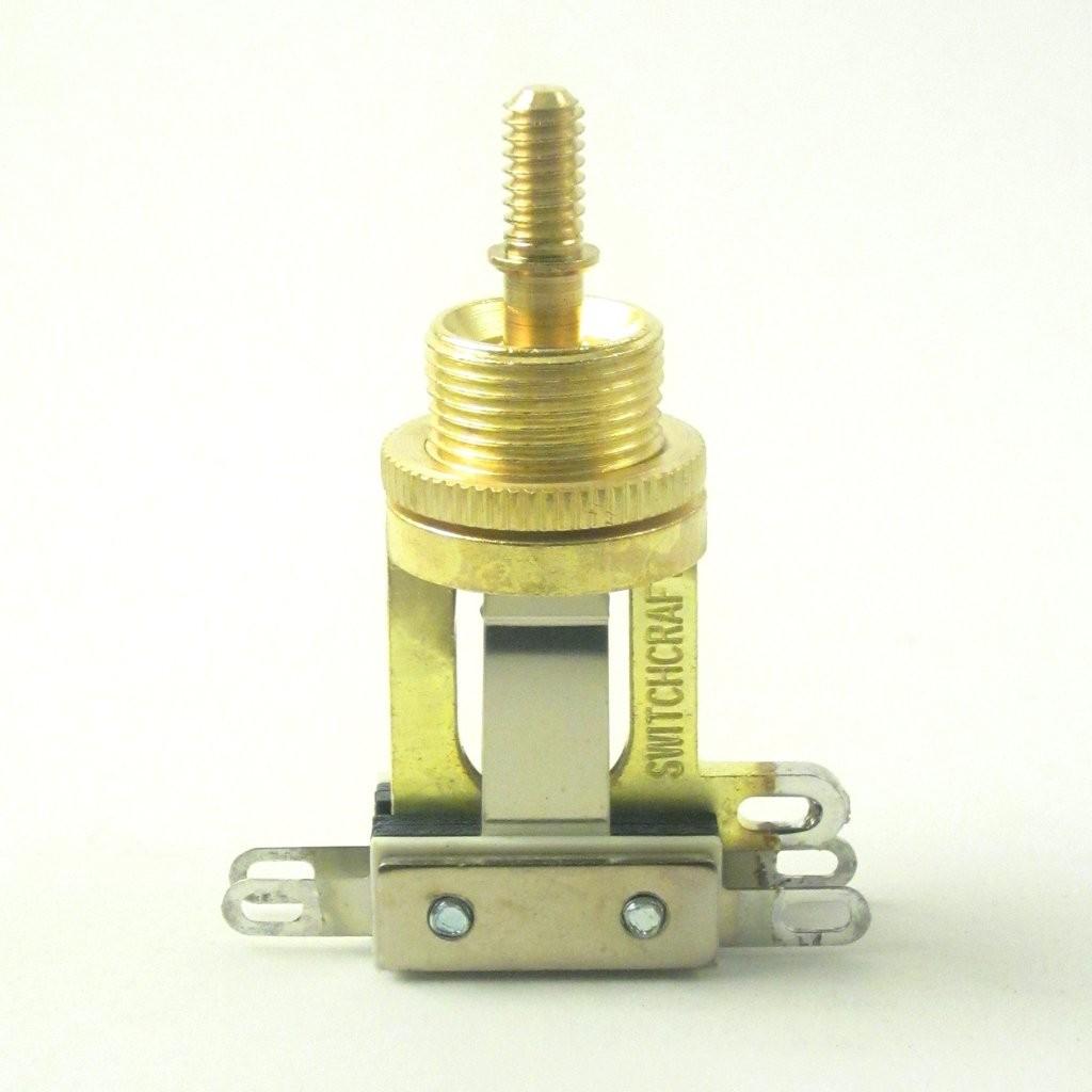 Switchcraft 3 Way Gold Tone Short Toggle Switch