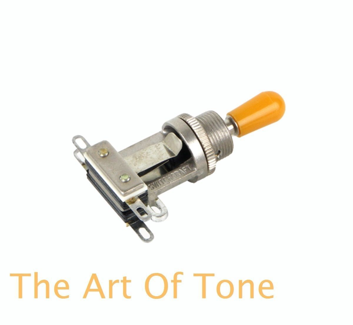 Switchcraft Short Frame Toggle with amber switch tip The Art Tone