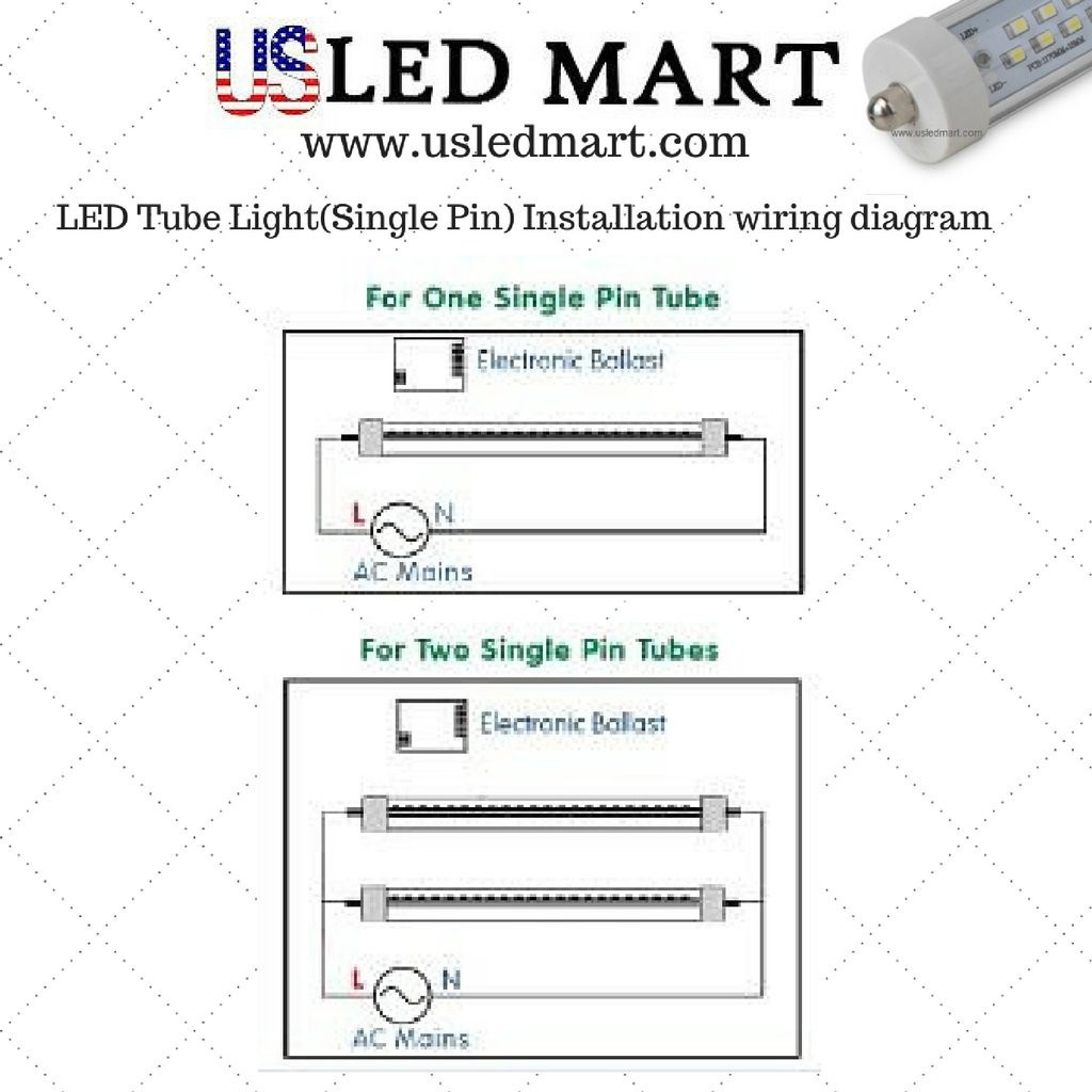 T8 Led Tube Light Wiring Diagram Trusted Schematics For Fluorescent Lights Single Circuit Ceo News Double