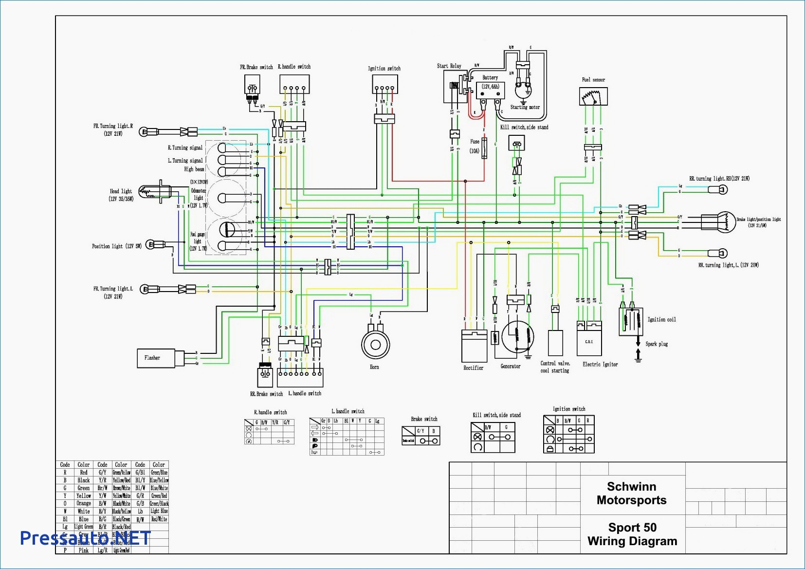 805FD2 China Scooter Wiring Diagram 2004 | Wiring ResourcesWiring Resources