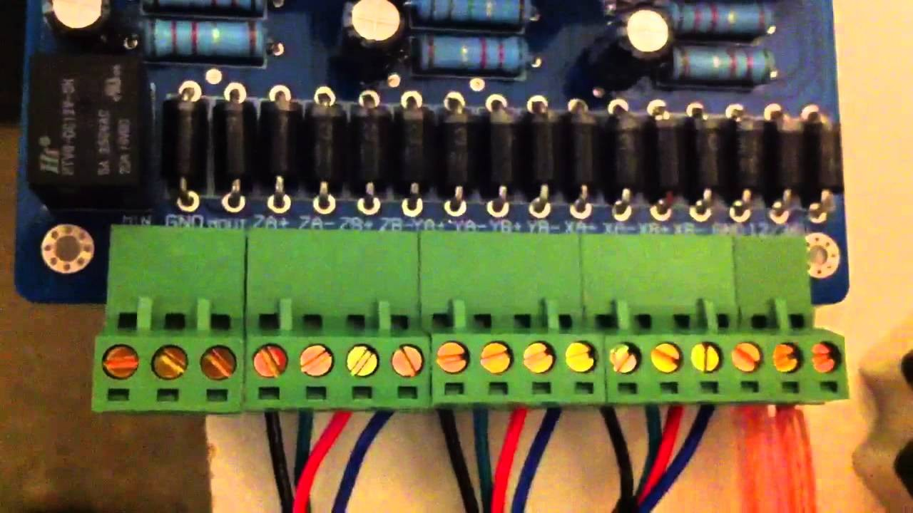 CNC 3 axis stepper motor wiring of a TB6560 controller