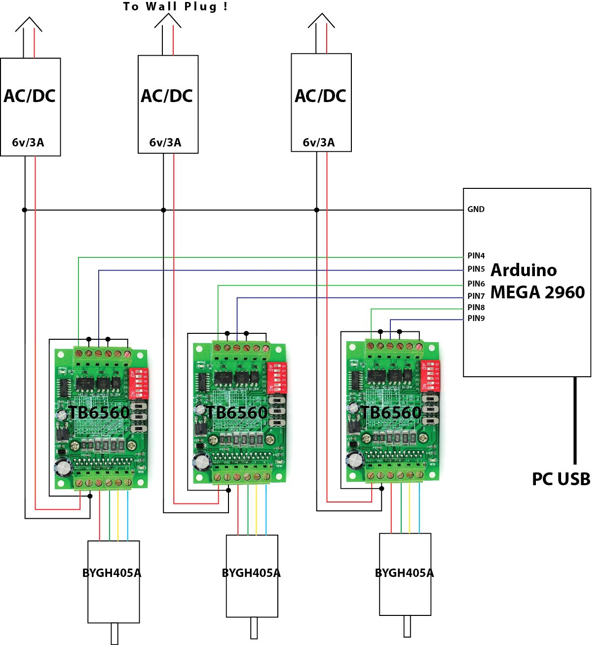 Electrical Problem With 3 Step Motors Unusual Tb6560 Wiring Diagram