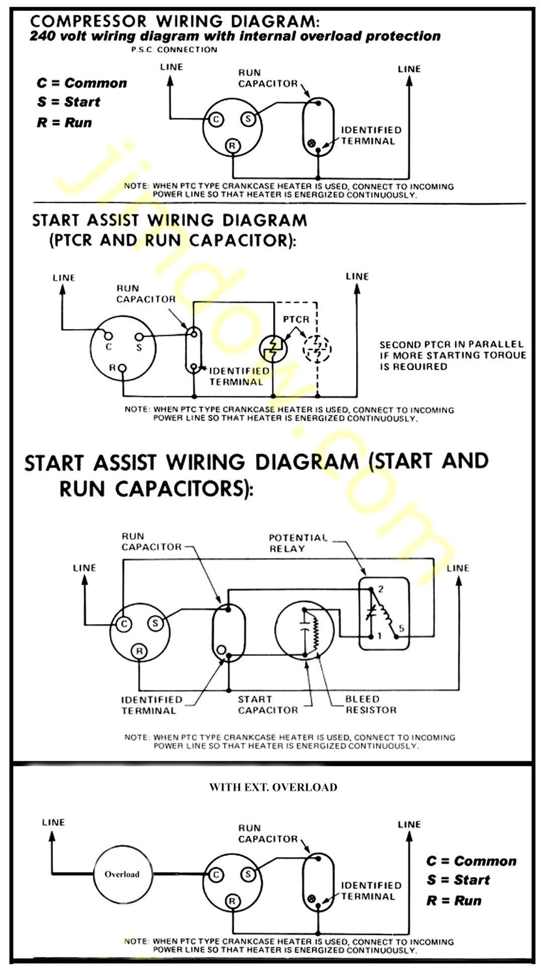 single phase compressor wiring diagram page 4 wiring diagram and compressor start relay wiring teseh compressor wiring diagram 115v wire center u2022 rh masinisa co single phase compressor wiring diagram
