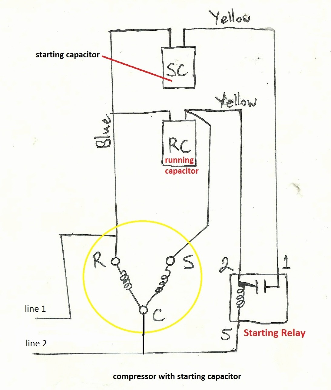 3 wire compressor wiring diagram