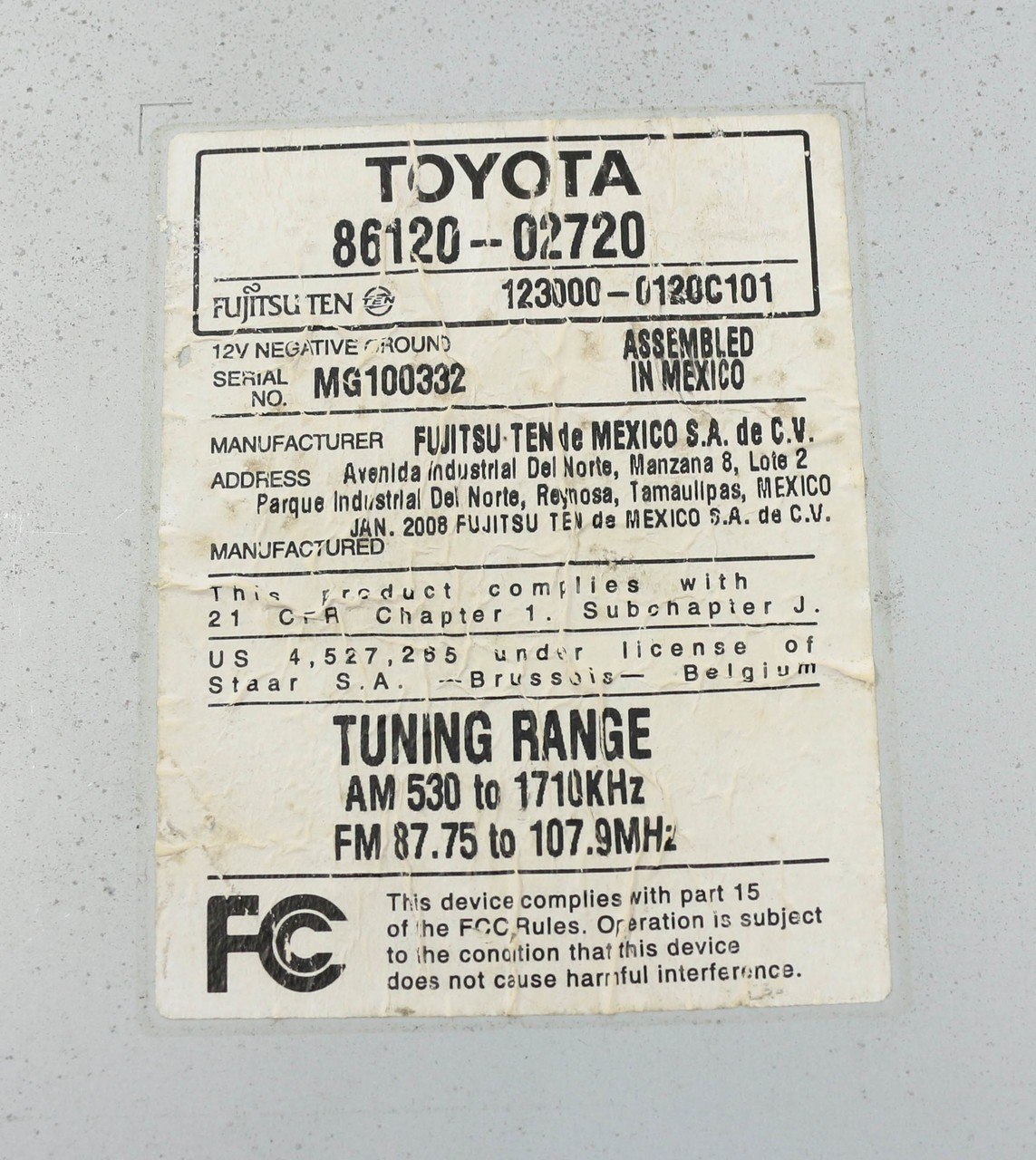 Toyota 86120 0c020 Wiring Diagram Trusted Wiring Diagrams 2007 Camry Fuse  Box Diagram Toyota 86120 52530 Wiring Diagram