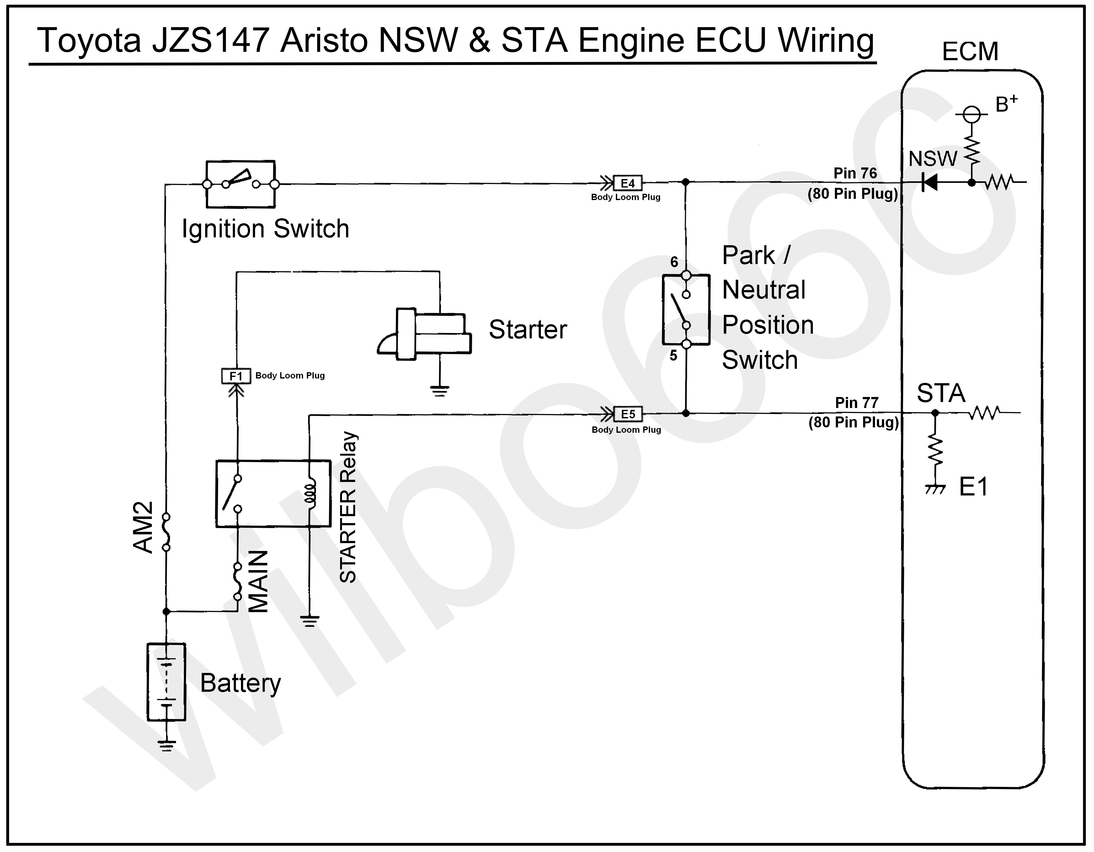 Toyota Igniter Wiring Diagram Diagrams Ae86 Ignition Coil Free Download Pictures Image Switch Jzs147 Aristo 2jz