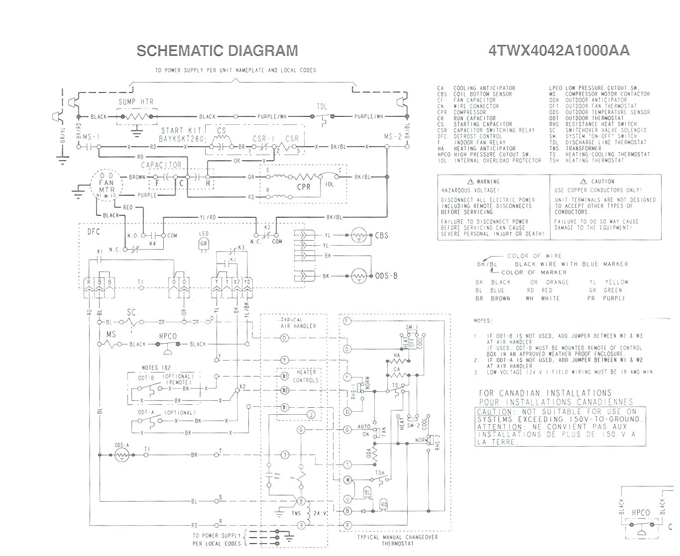 Trane Xl1200 Heat Pump Wiring Diagram