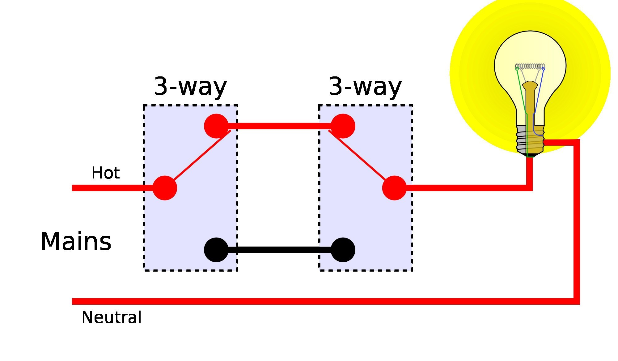 Wiring Diagram for Two Way Switch e Light Valid Wiring Diagram for 3 Way Switches Multiple