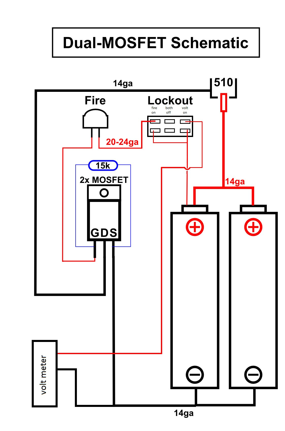 18650 Mos Fet Wiring Simple Diagram How To Test Fetsjfet And Mosfet Circuit Diagrams Single Box Mod With