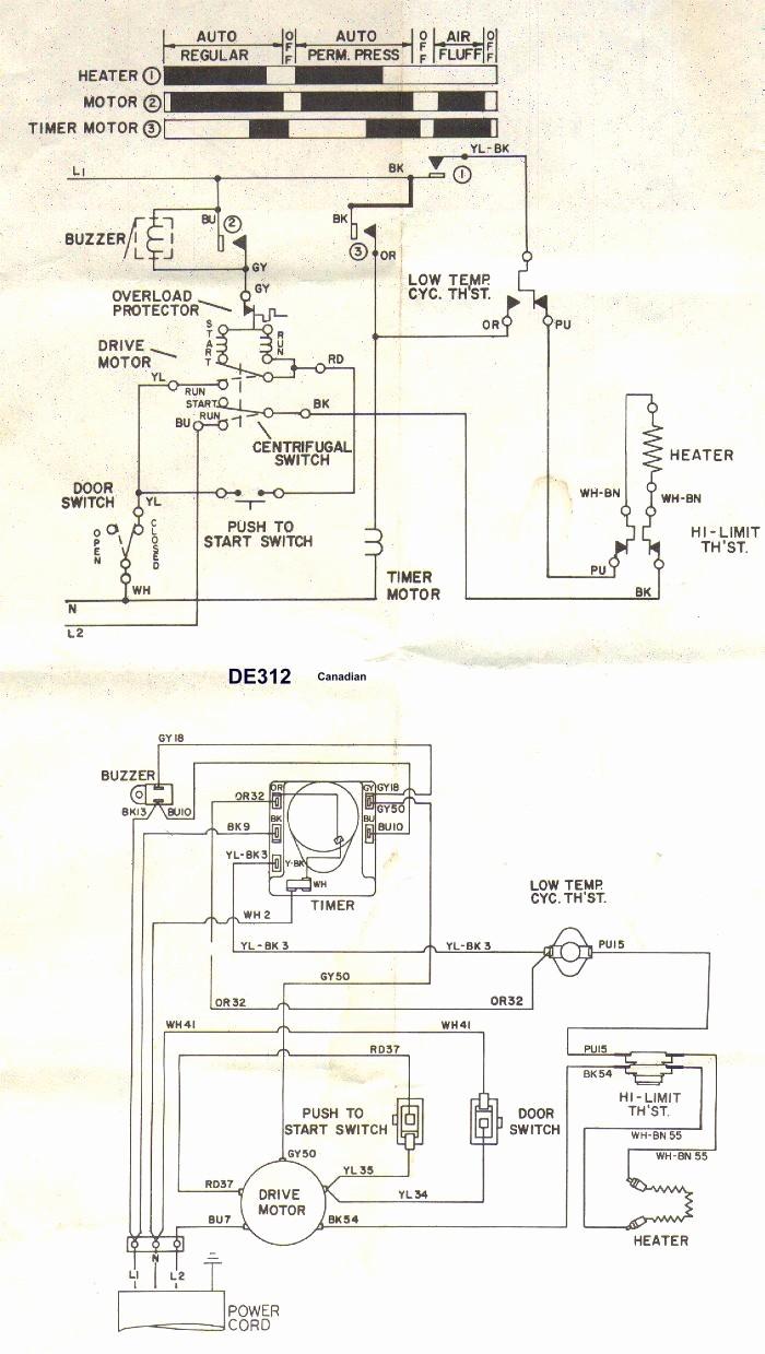 element dryer thermostat wire diagram