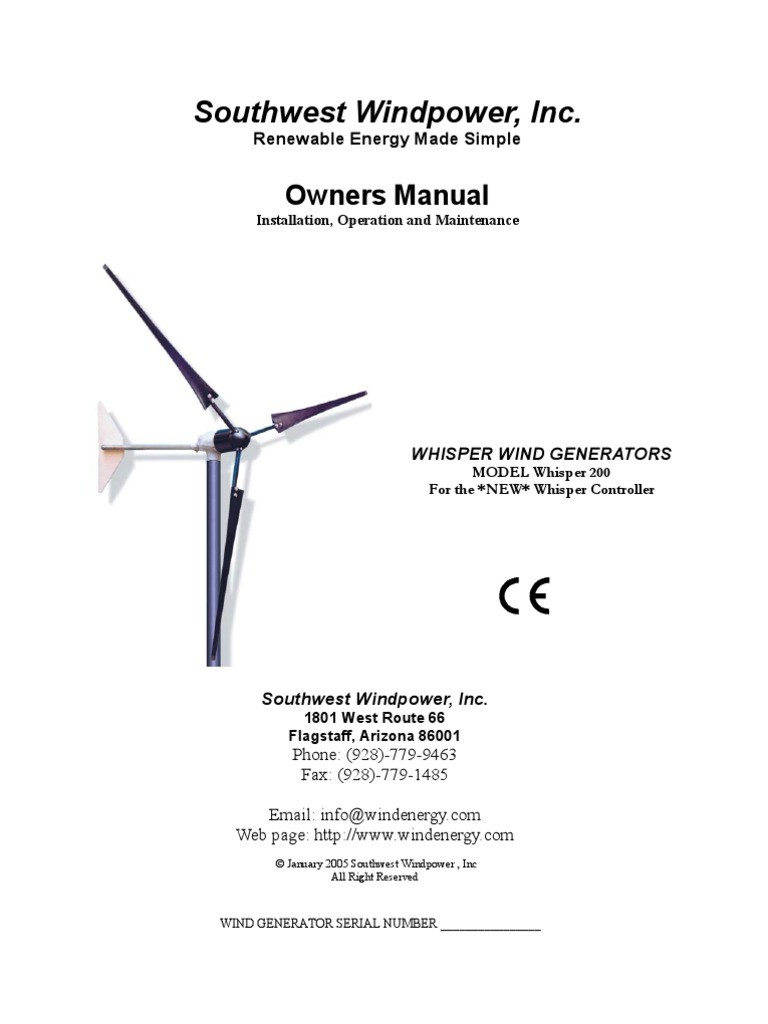 Wind Turbine Circuit Diagram Trusted Schematics Wiring Image Voltage Converter Whisper 1000 Watt User Manual
