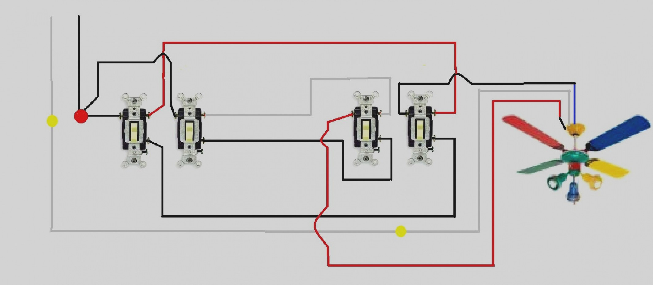 Great Ceiling Fan Light Switch Wiring Diagram 3 Way Diagrams Schematics Within 8