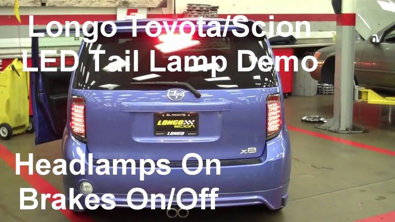 Longo Scion xB LED Tail Lamp Feature Demonstration