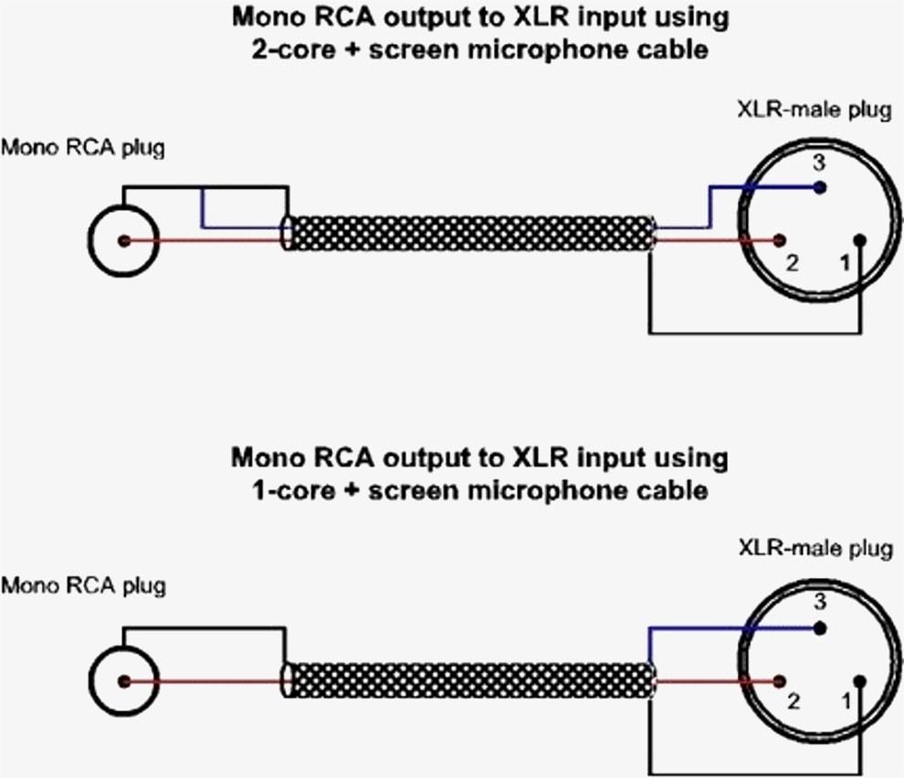 Rca To Xlr Wiring Diagram Diagrams Schematics In Connectors