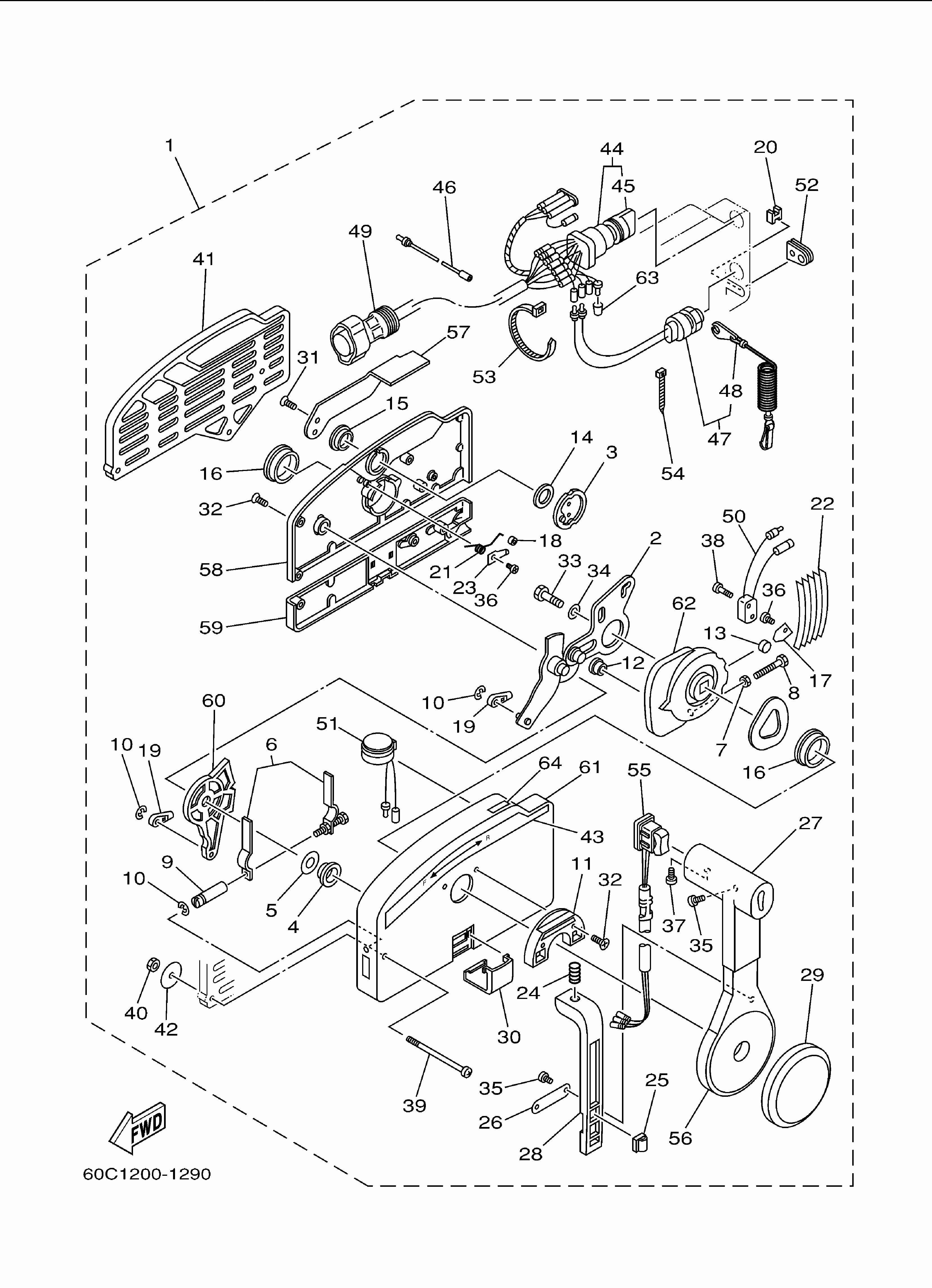 Mercury Throttle Control Box Diagram Unique Yamaha 703 Control Converting Pull to Push