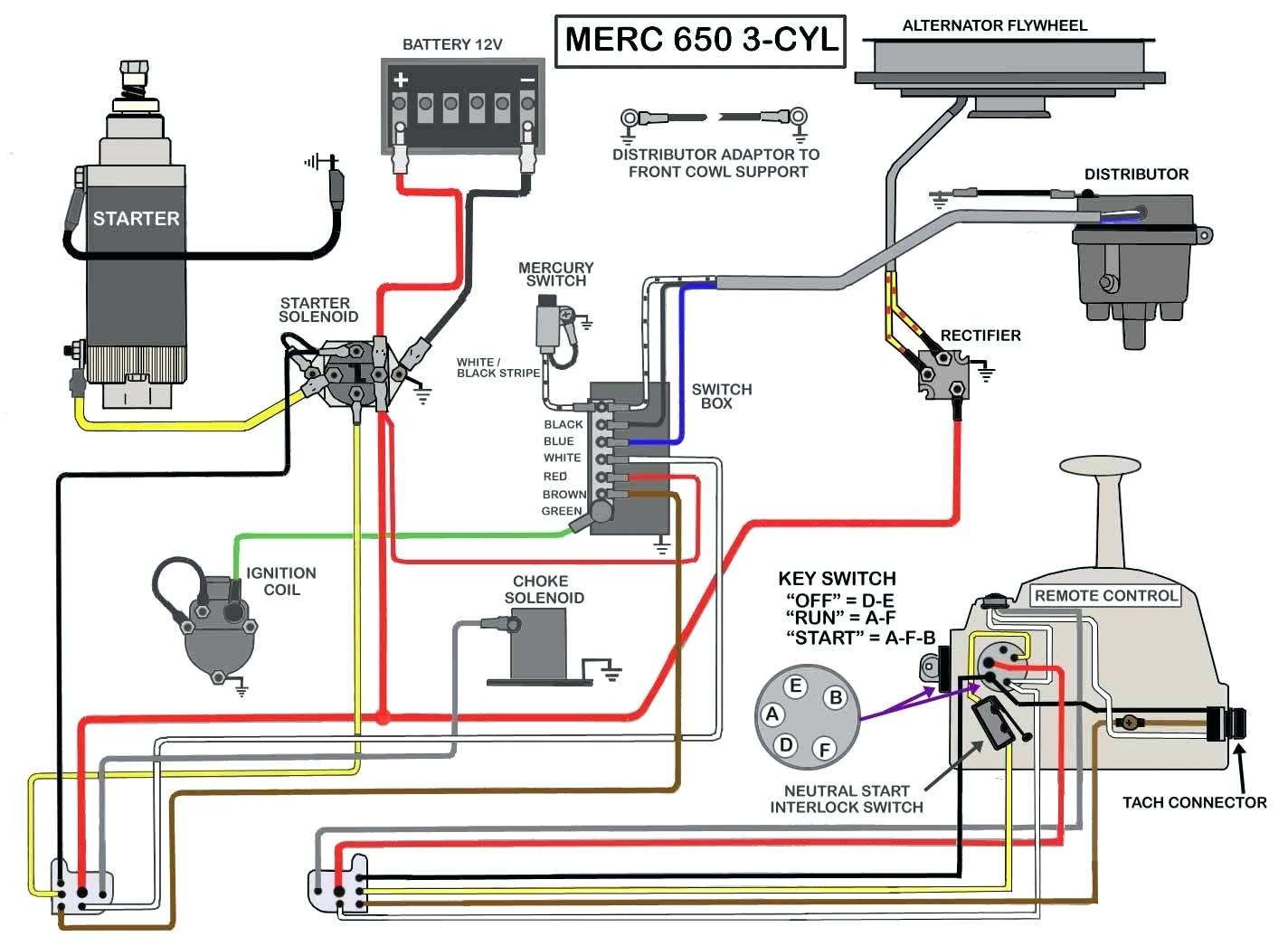 Mercury Outboard Key Switch Wiring Diagram