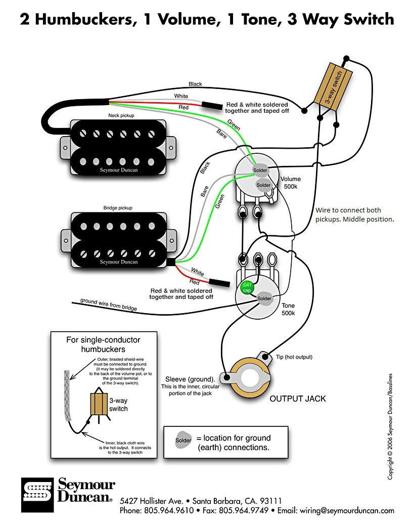 1 Humbucker 1 Volume 1 Tone Wiring Diagram Wiring