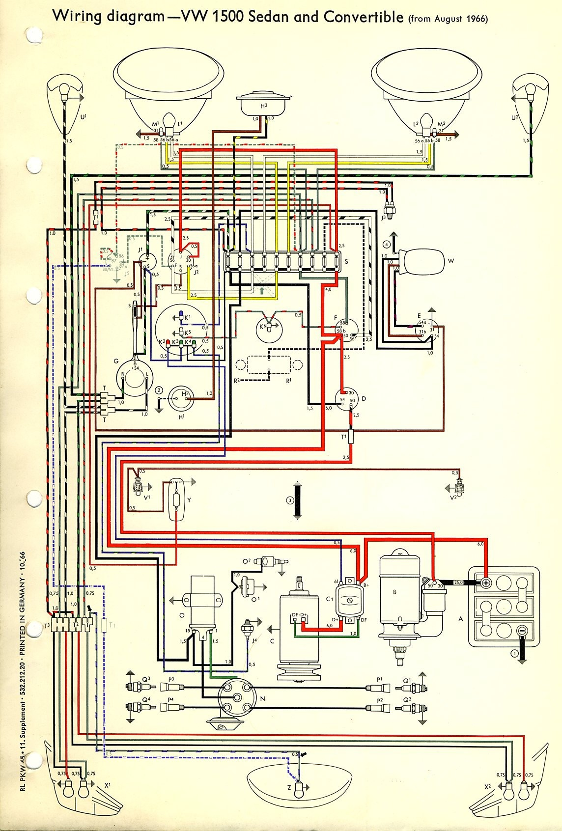 1971 Vw Beetle Alternator Wiring Diagram Air Cooled 74 On Elegant Super Image