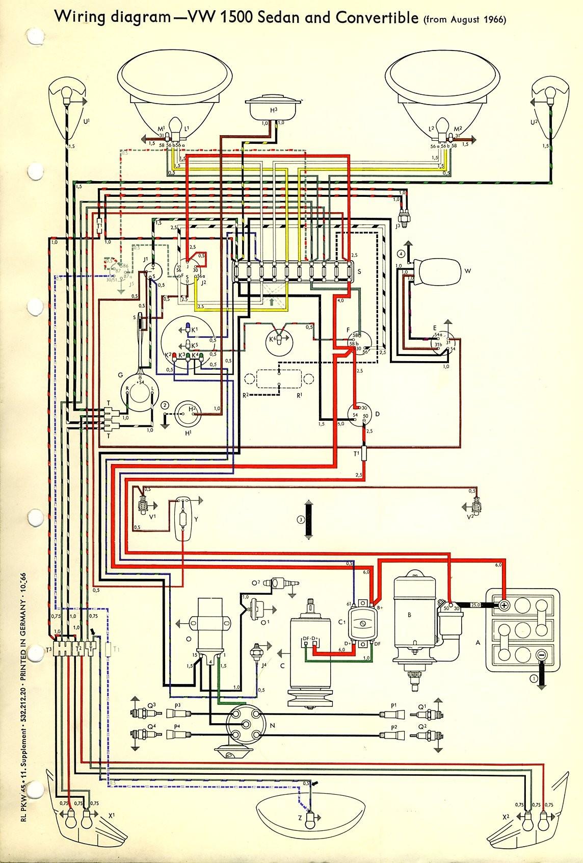 1971 vw alternator wiring diagram