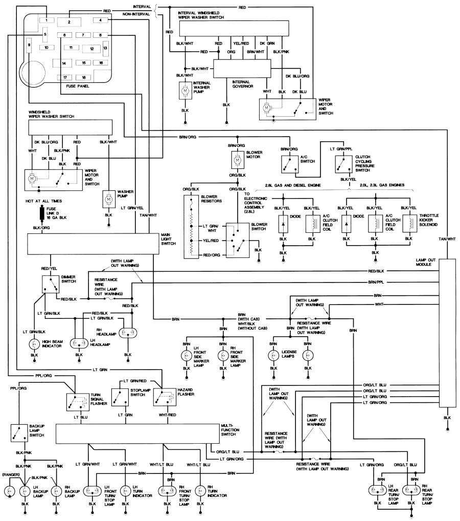 84 B2 Body 1996 Ford Bronco Wiring Diagram