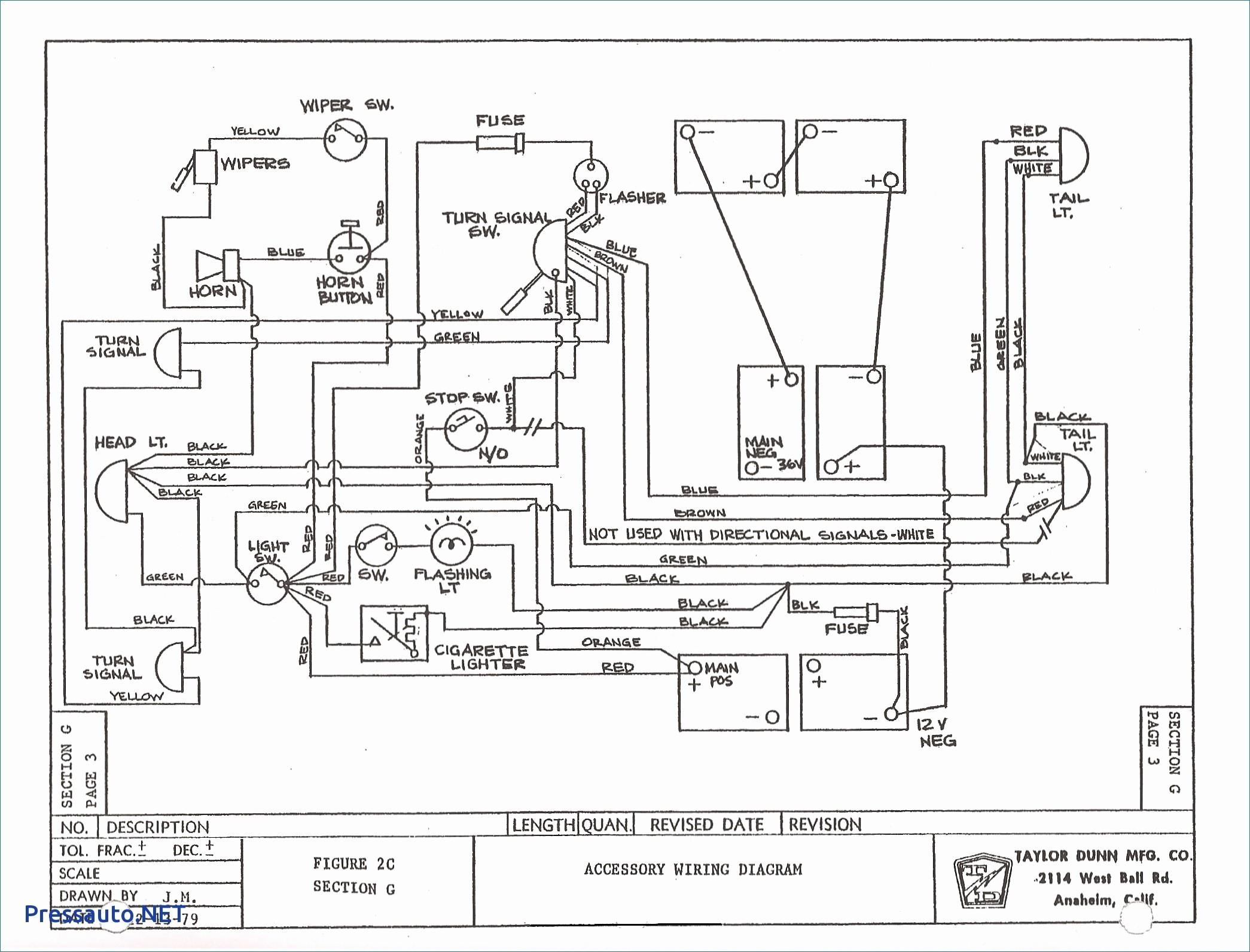Wiring Diagram for Club Car Electric Golf Cart New Vintage Ezgo Wiring Diagrams Wiring Diagrams