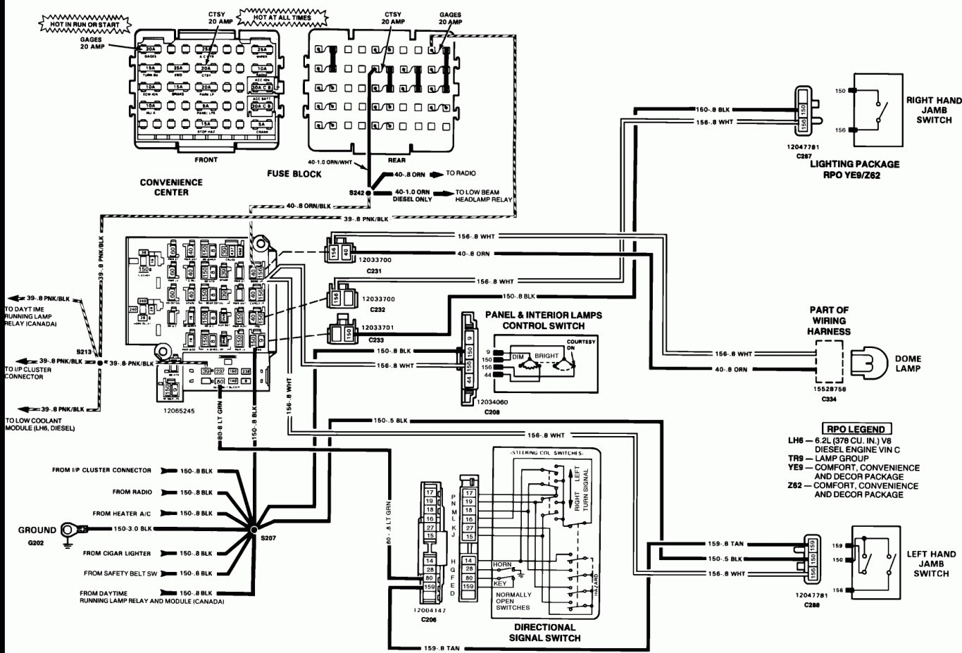Tail Light Wiring Diagram 1995 Chevy Truck 018 At
