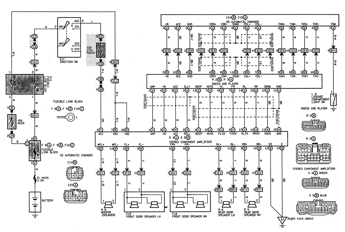 2003 toyota Ta A Wiring Diagram Ytech 1997 toyota Camry Stereo Wiring Wire  Center •