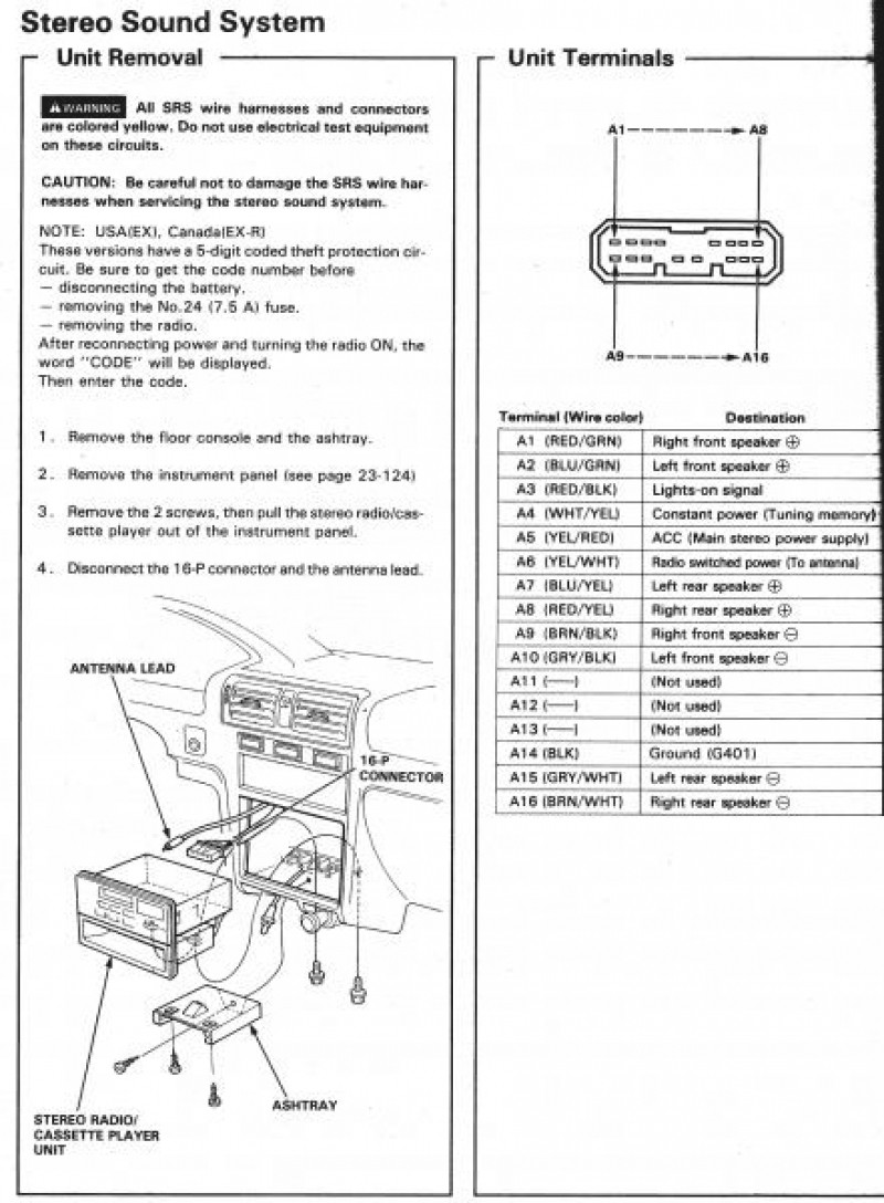 Honda Accord Wiring Harness Diagram Obd1 Engine Harness Diagram Honda  Beautiful Honda Accord Stereo Wiring