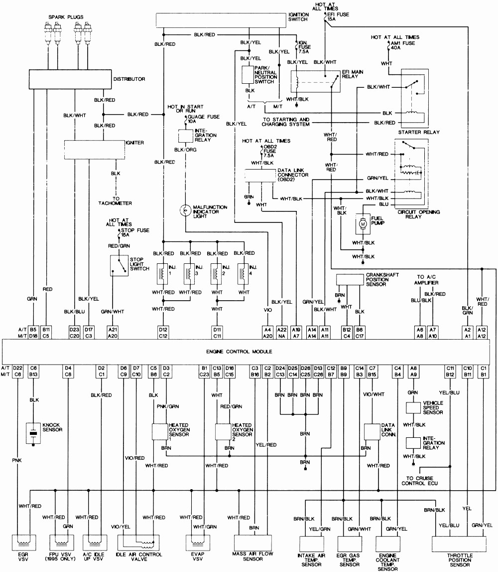 96 Toyota Tacoma Fuel Pump Wiring Diagram Data Wiring Diagrams \u2022 2003  4Runner Stereo Wiring Diagram Toyota 4runner Fuel System Wiring Diagram