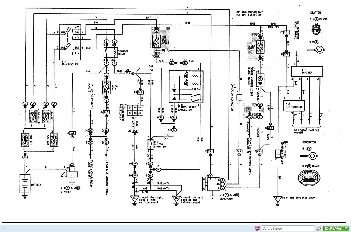 wiring diagram for 1998 toyota tacoma