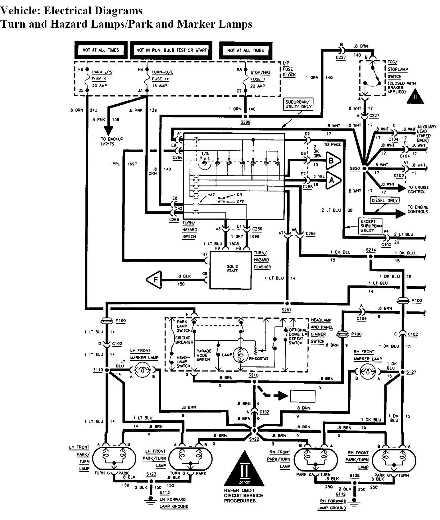 1993 chevy suburban wiring diagram