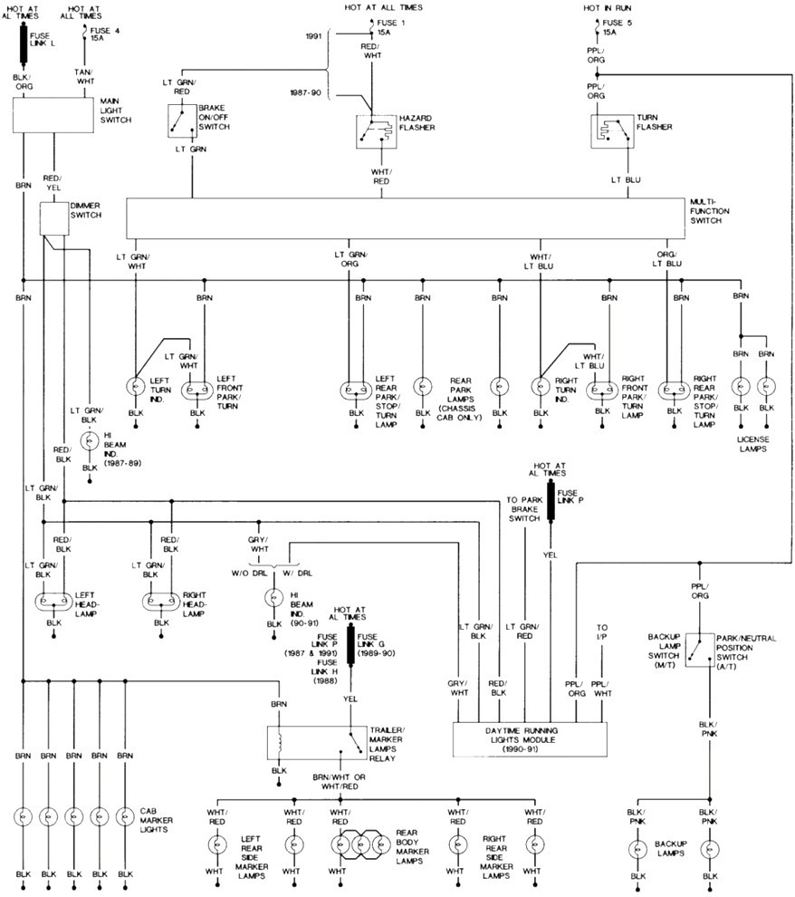 1999 Ford F250 Tail Light Wiring Diagram