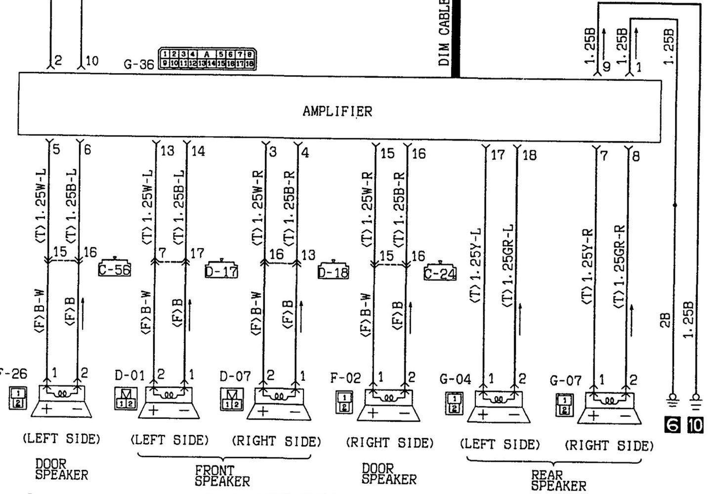 mitsubishi car stereo wiring diagram 1991 eclipse