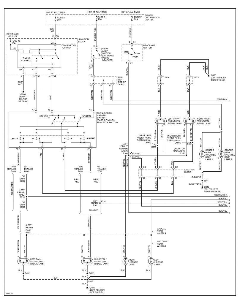 32 Dodge Caravan Tail Light Wiring Diagram