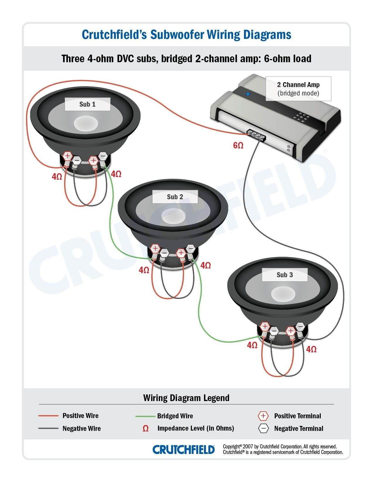parallel dual voice coil wire diagram