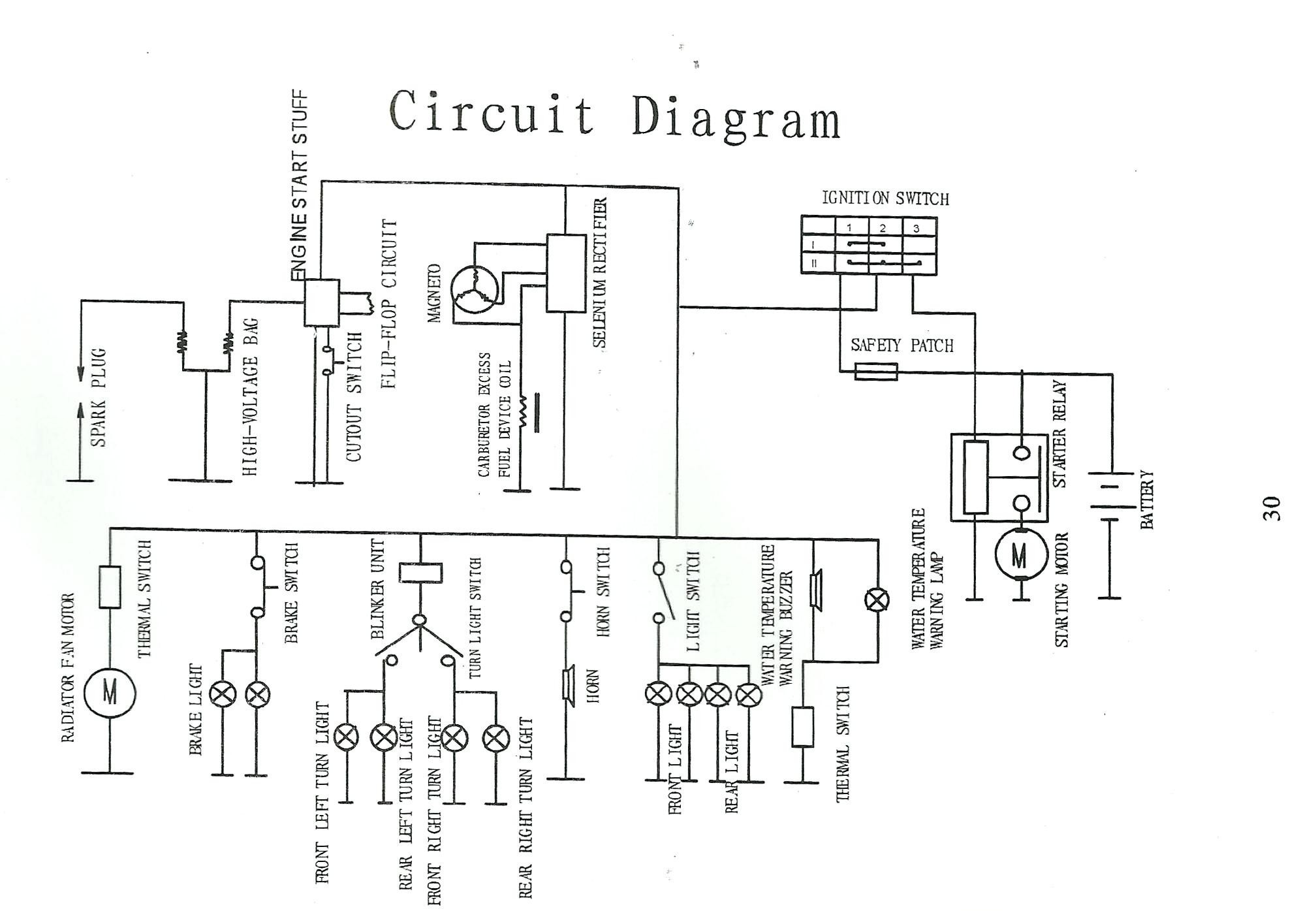 110cc Pocket Bike Wiring Diagram Need