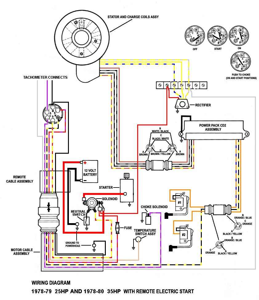 Mercury Outboard Wiring Diagram Schematic from mainetreasurechest.com