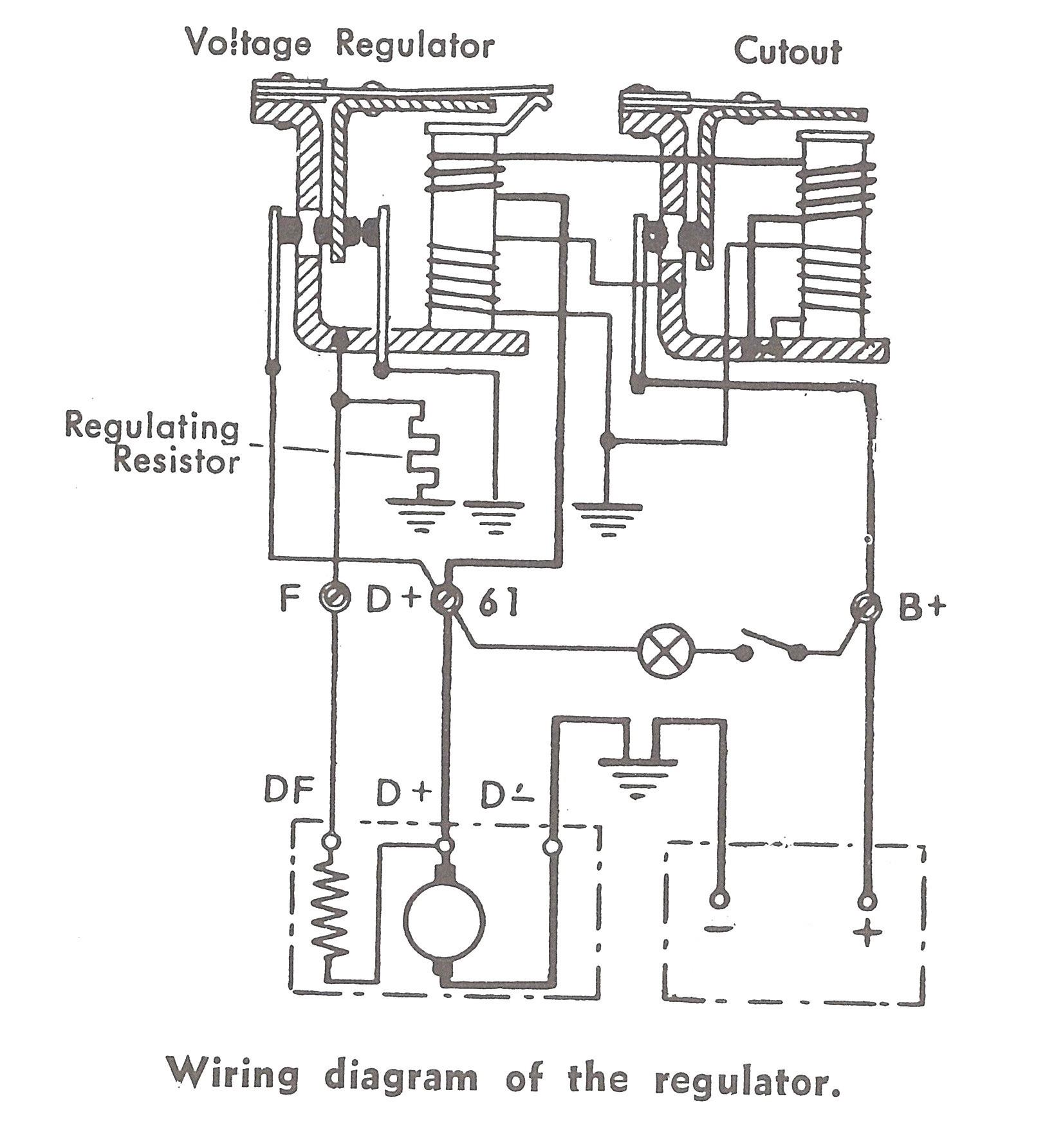 electrical schematic for magneto and 6 volt regulator 6 11