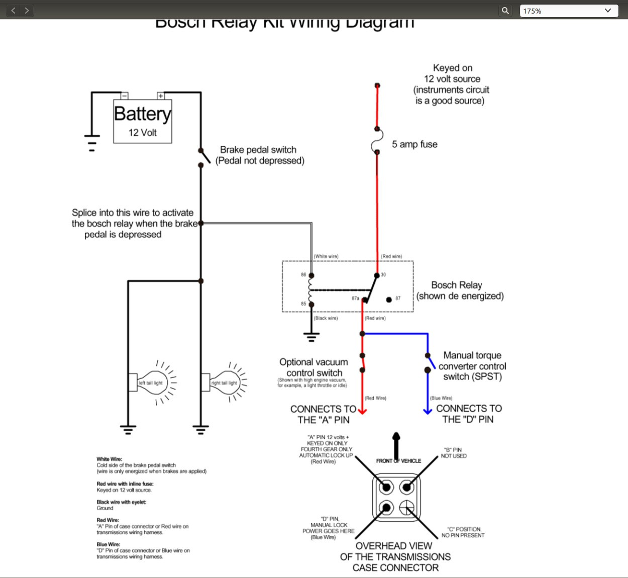 1985 700r4 Wiring Diagram